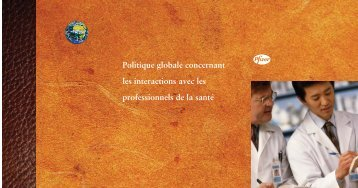Politique globale concernant les interactions avec les ... - IFPMA
