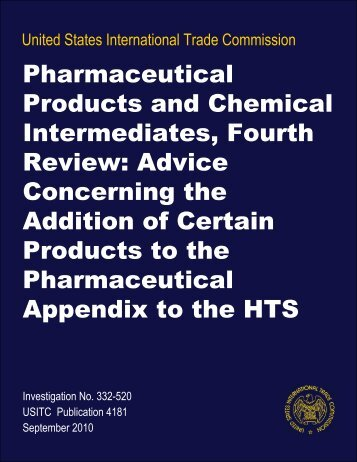 Pharmaceutical Products and Chemical Intermediates ... - IFPMA