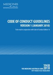 code of conduct guidelines version 1 (january 2010 - IFPMA