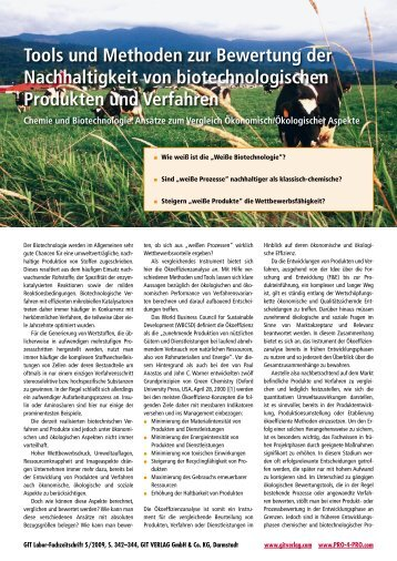 Tools und Methoden zur Bewertung der Nachhaltigkeit von ...