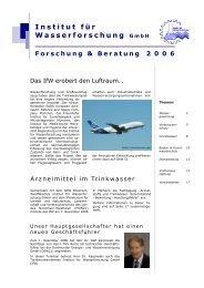 Forschung & Beratung 2006 - Institut für Wasserforschung GmbH