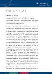 PRESSEMITTEILUNG - ifu Hamburg GmbH