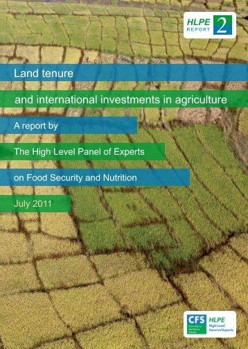 Land tenure and international investments in agriculture [pdf - ifoam