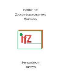 Jahresbericht 2002/2003 - IfZ