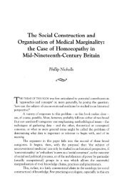 The Social Construction and Organisation of Medical Marginality ...