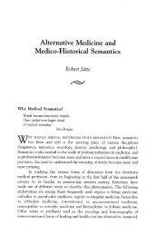 Alternative Medicine and Medico-Historical Semantics, Robert Jütte