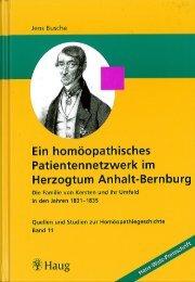 Jens Busche, Ein homöopathisches Patientennetzwerk im ...