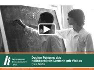 Design Patterns des kollaborativen Lernens mit Videos - IHI Zittau