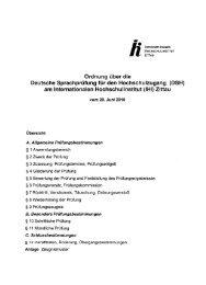 DSH-Ordnung - IHI Zittau