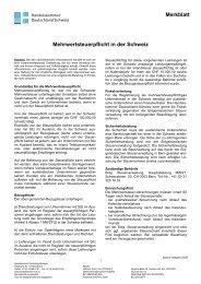 Merkblatt Mehrwertsteuerpflicht in der Schweiz Stand: Oktober 2009