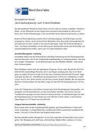 Schrumpfvergreisung - und Handelskammer Nord Westfalen