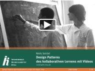 Design Patterns des kollaborativen Lernens mit Videos ... - IHI Zittau