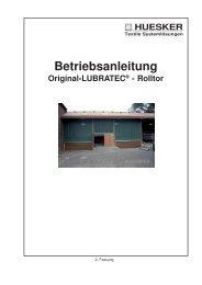 Betriebsanleitung Original-Lubratec® - Rolltor - und Agrotech AG