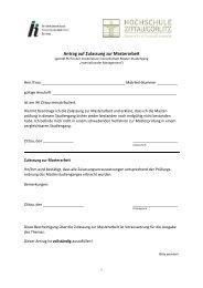 Antrag auf Zulassung zur Masterarbeit ab IM 09 - IHI Zittau