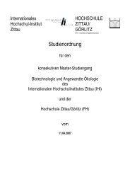 Studienordnung des Masterstudiengangs - IHI Zittau