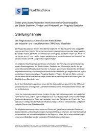 Stellungnahme - und Handelskammer Nord Westfalen