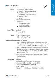 Wirtschaft Bankfachwirt/-in - IHK  Niederbayern