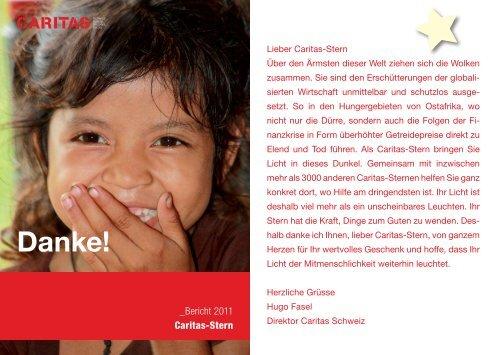 Das bewirken Sie als Caritas-Stern. - CARITAS - Schweiz