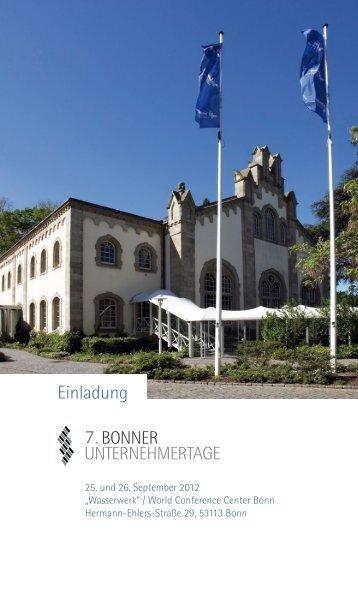 7. Bonner Unternehmertage - IHK Bonn/Rhein-Sieg