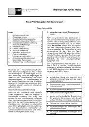 Neue Pflichtangaben für Rechnungen - IHK Trier