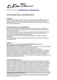 Verein EinElternForum Jahresbericht 2010 - Caritas Bern