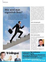Wie wird man eigentlich Boss? - und Handelskammer Nord Westfalen