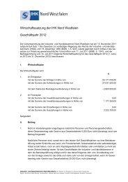 Wirtschaftssatzung 2012 - und Handelskammer Nord Westfalen