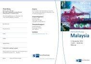 Einladung Malaysia 10 intern - Deutsch-Malaysische Industrie