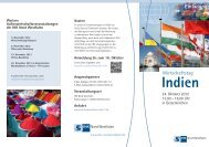 Wirtschaftstag Indien Anmeldung bis zum 16. Oktober - optegra:hhkl