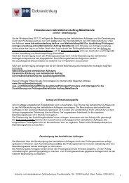 Hinweise zum betrieblichen Auftrag Metallberufe.