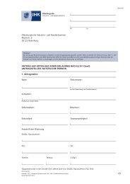 Antrag - Oldenburgische Industrie- und Handelskammer