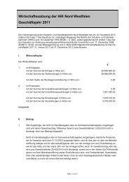 Wirtschaftssatzung 2011 - und Handelskammer Nord Westfalen