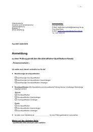 Anmeldung - Oldenburgische Industrie- und Handelskammer