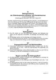 Beitragsordnung - Oldenburgische Industrie- und Handelskammer