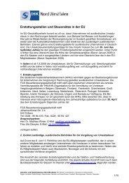 Erstattungsstellen und Steuersätze in der EU - und Handelskammer ...