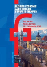 RUSSIAN ECONOMIC AND FINANCIAL FORUM IN GERMANY ...