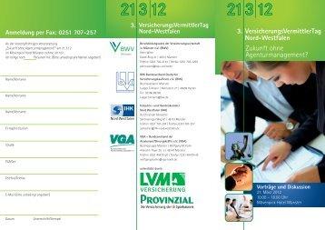 VersichVermittlertag 2012 RZ 15 - und Handelskammer Nord ...
