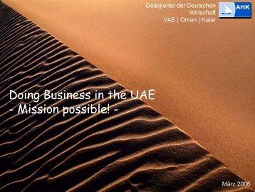 Praesentation AHK Dubai