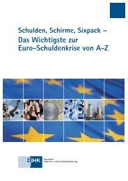 Das Wichtigste zur Euro-Schuldenkrise von A-Z - IHK Ulm