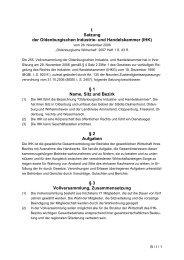 Satzung - Oldenburgische Industrie- und Handelskammer