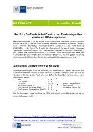 Merkblatt RoHS II - IHK Nürnberg für Mittelfranken