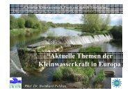 """""""Aktuelle Themen der Kleinwasserkraft in Europa - Institut für ..."""