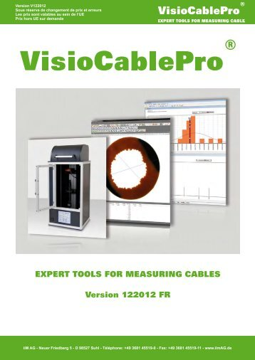 EXPERT TOOLS FOR MEASURING CABLES Version ... - iiM AG