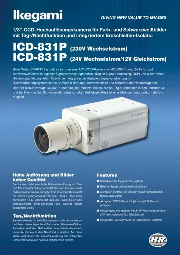 ICD-831P (230V Wechselstrom) - Ikegami