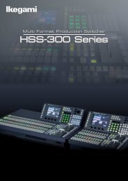 HSS-300 Series HSS-300 Series - Ikegami