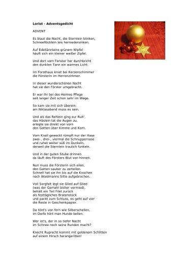 Loriot Weihnachtsgedicht