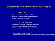 Displacement Methods based on Field Analysis