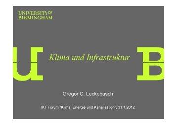 Klima und Infrastruktur - IKT