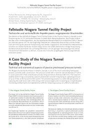 Fallstudie Niagara Tunnel Facility Project - ILF Consulting Engineers