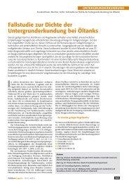 Fallstudie zur Dichte der Untergrunderkundung bei Öltanks